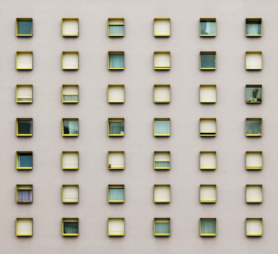 окна, минимализм, дом