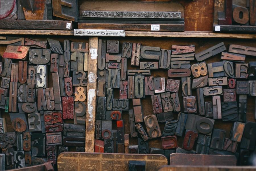 буквы, книги, книгопечатание