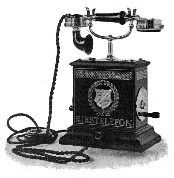 Телефон 1896 года, Швеция