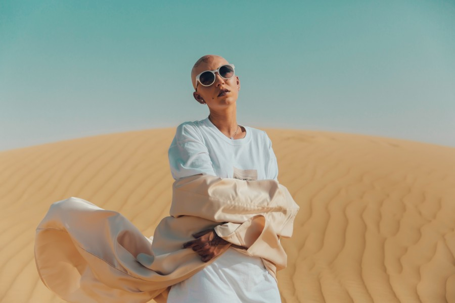 пустыня, девушка, очки