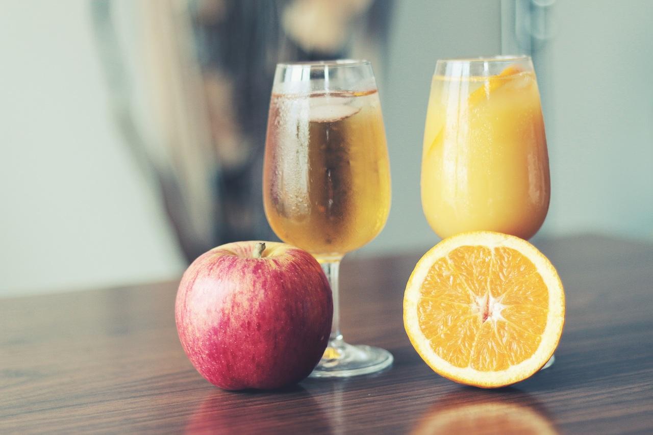 сок, фрукты, диета, бокал