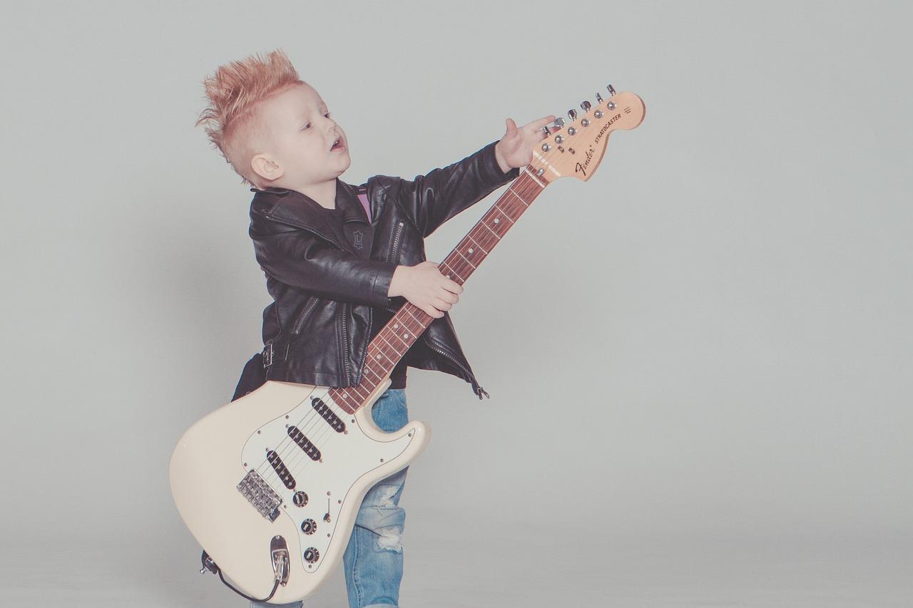 ребенок, музыка, гитара