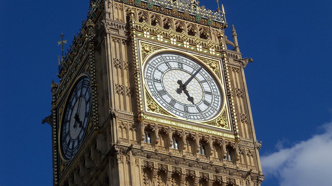 биг бен, лондон, англия, часы