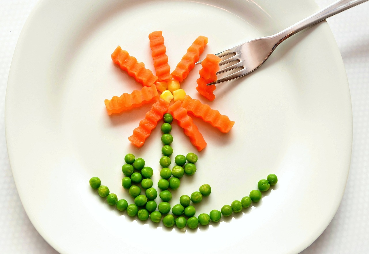 еда, тарелка, овощи, диета