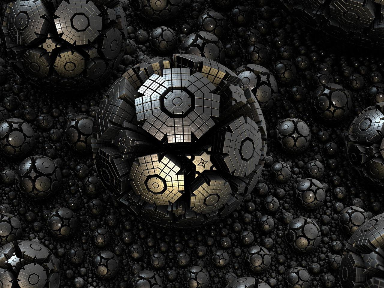 фрактал, шар, пространство