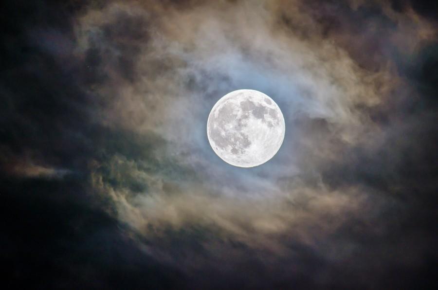 Луна, спутник, ночь