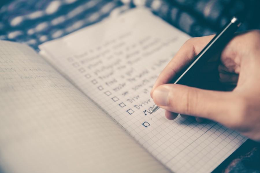 список дел, записывать, тетрадь