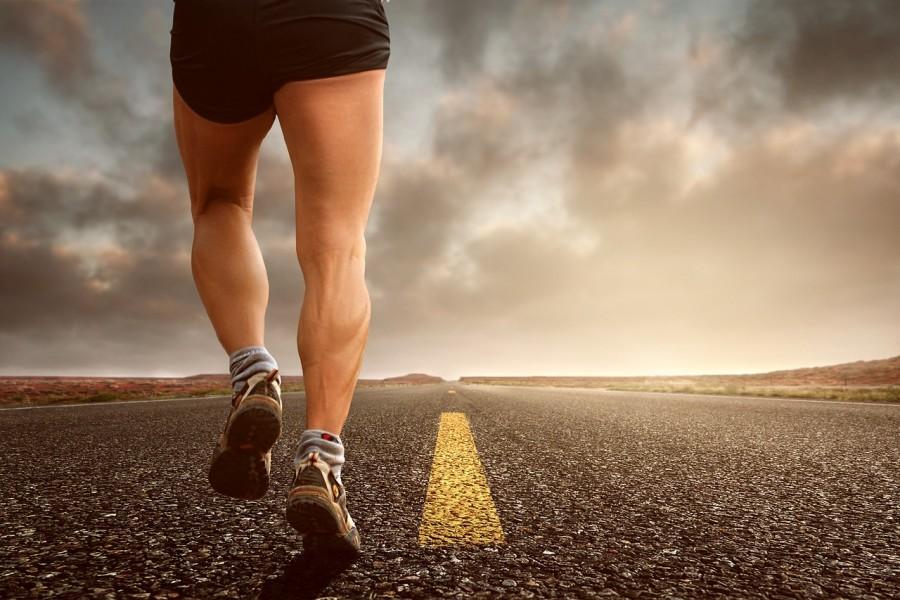 бег, дорога, ноги, мышцы