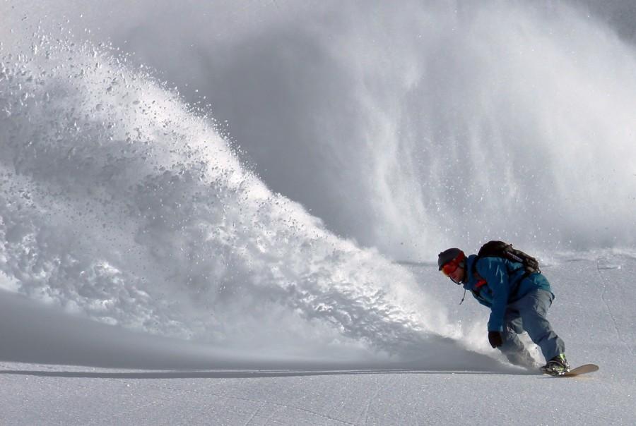снег, сноуборд, экстрим