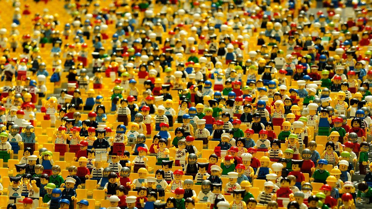 Lego, игрушки, толпа