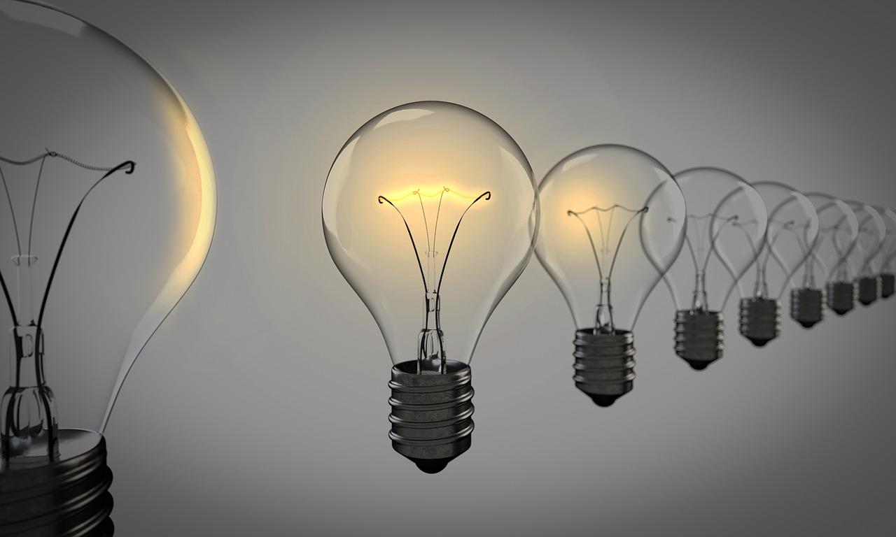 лампа, свет, идея