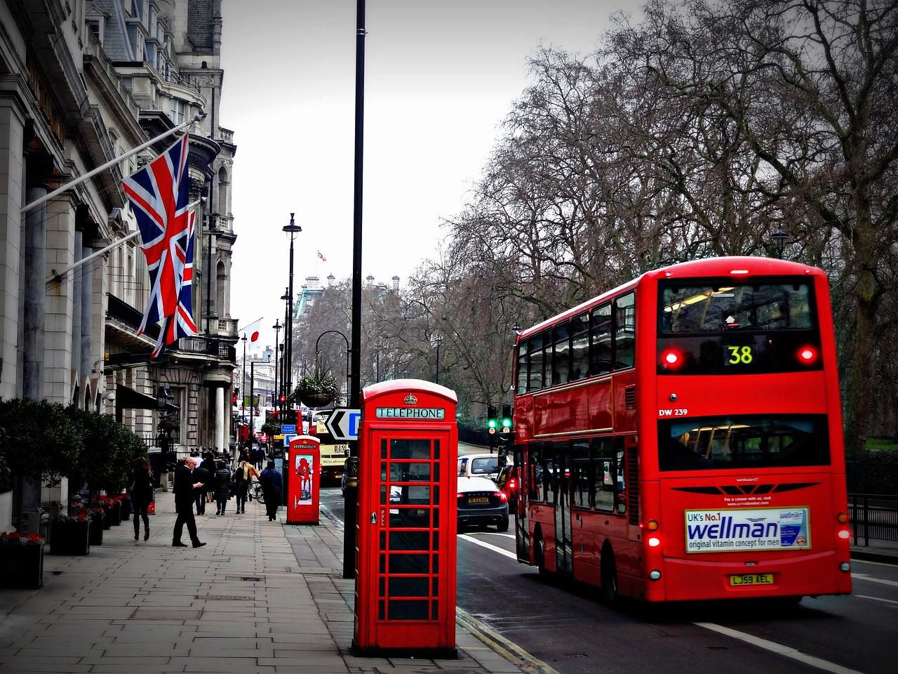 лондон, автобус, остановка