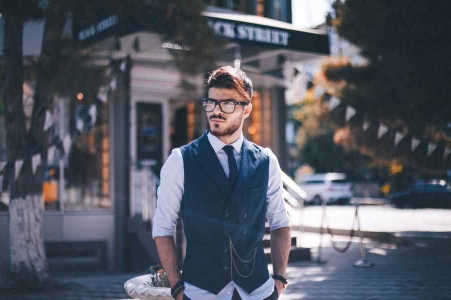 мужчина, успешный, очки
