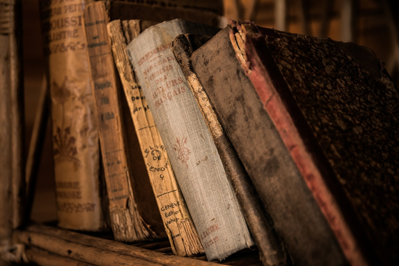 книги, старый, библиотека