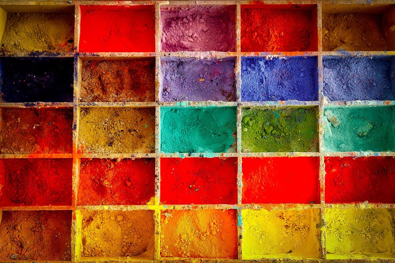 краски, цвета, живопись