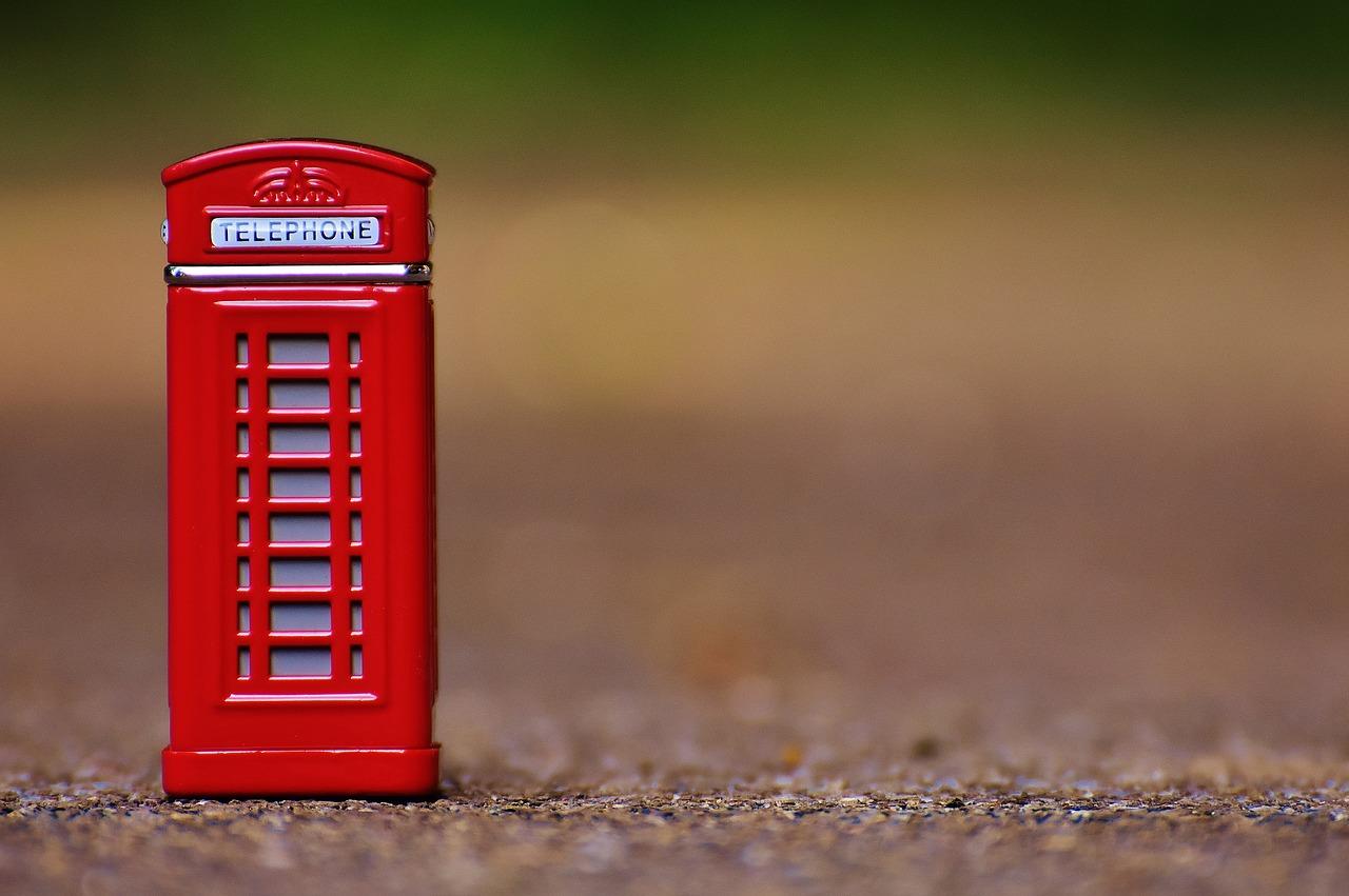телефон, будка, англия