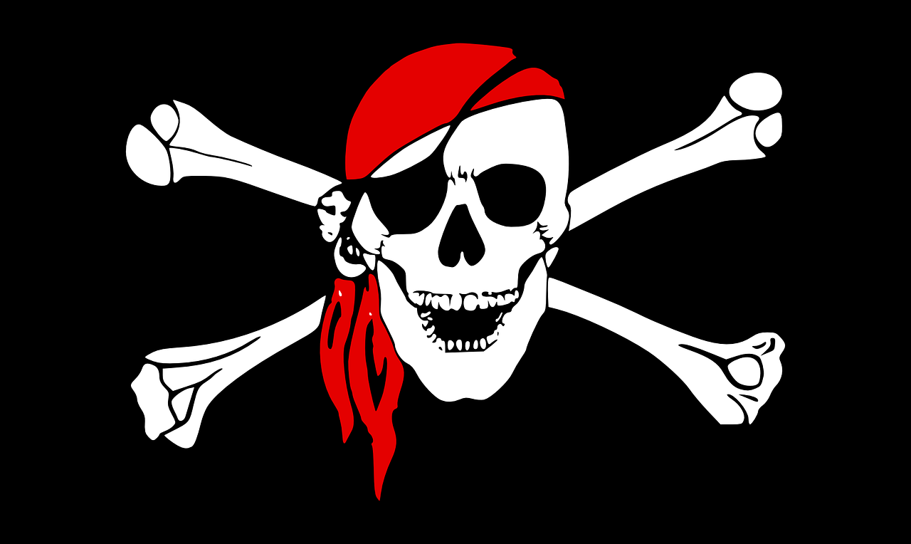 пират, флаг, череп