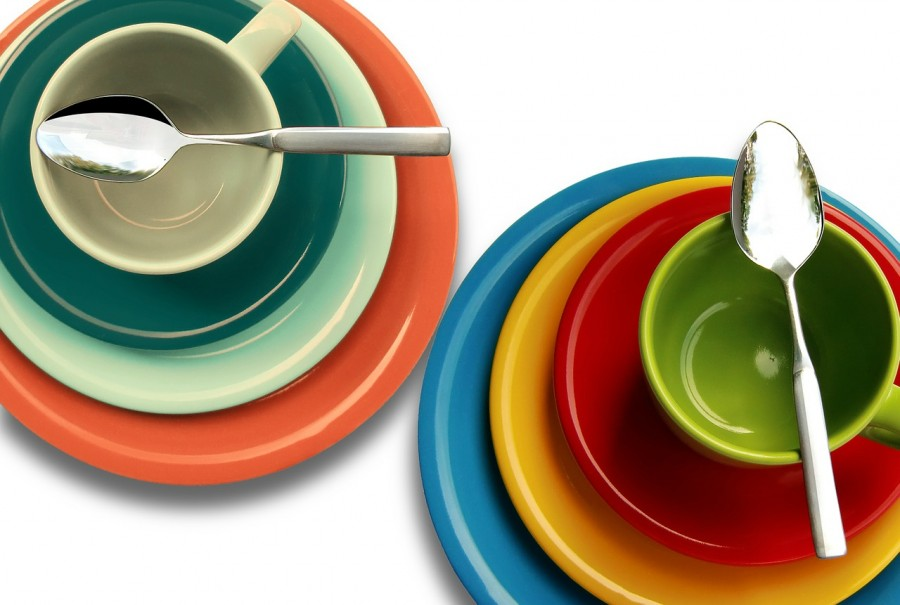 посуда, тарелки, ложки