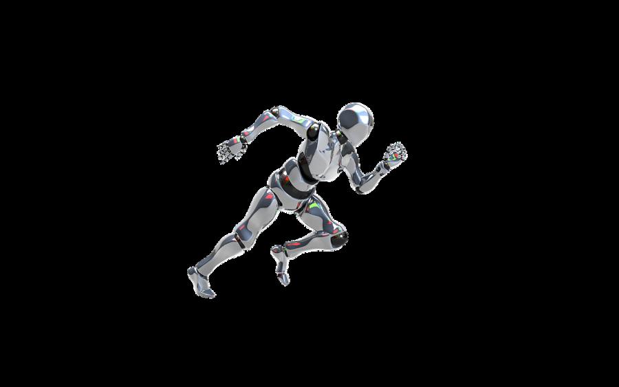 робот, технологии, бег