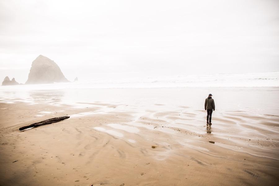море, мужчина, берег