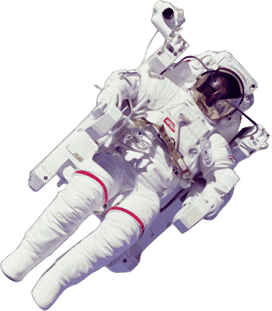 космонавт, космос, рисунок