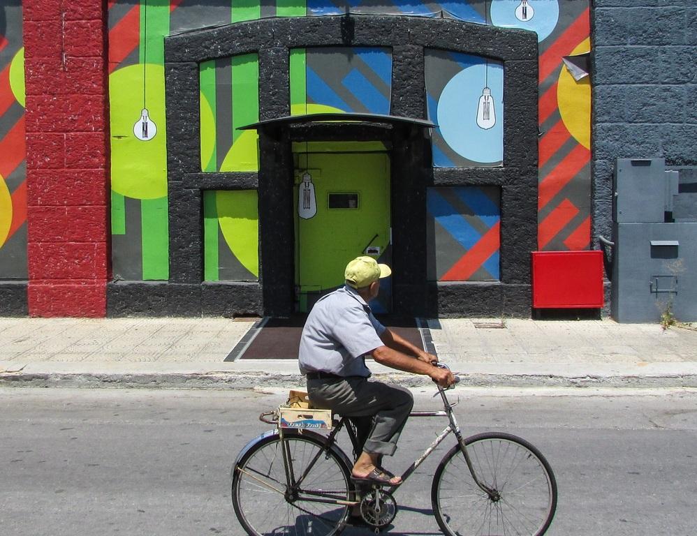 велосипет, пожилой, спорт,улица