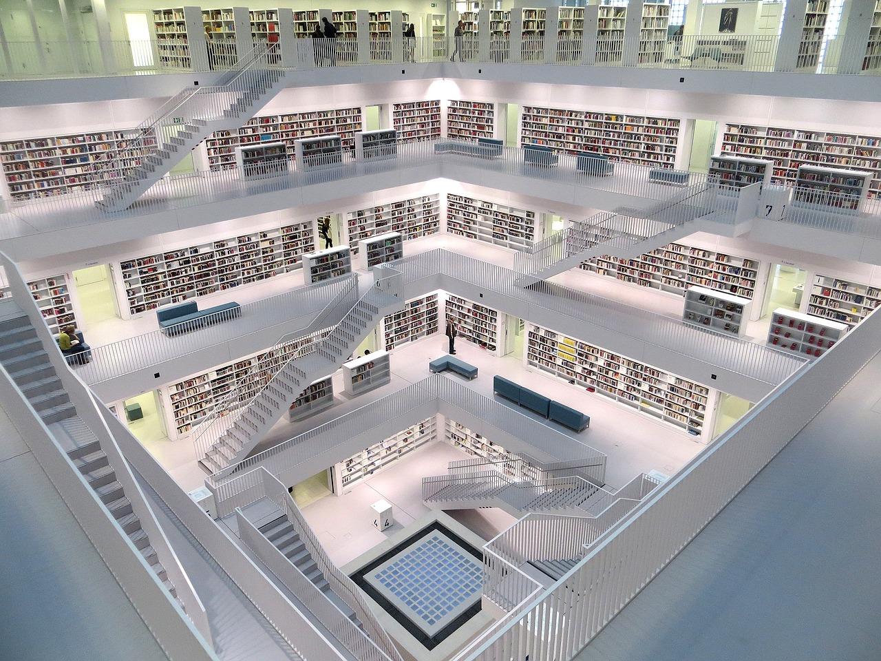Библиотека, Штутгарт, книги