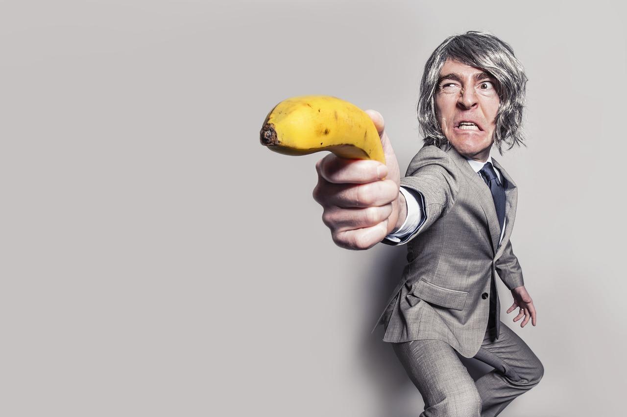 банан, оружие, фрукт