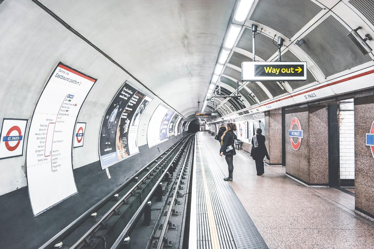 лондон, метро, станция