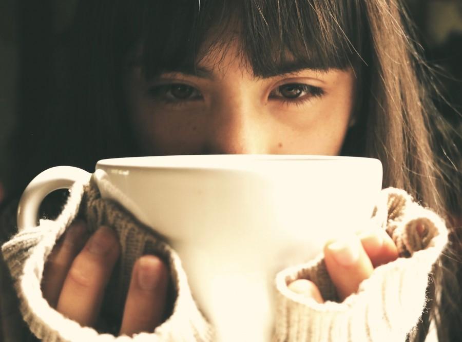 девушка, чашка, грустный
