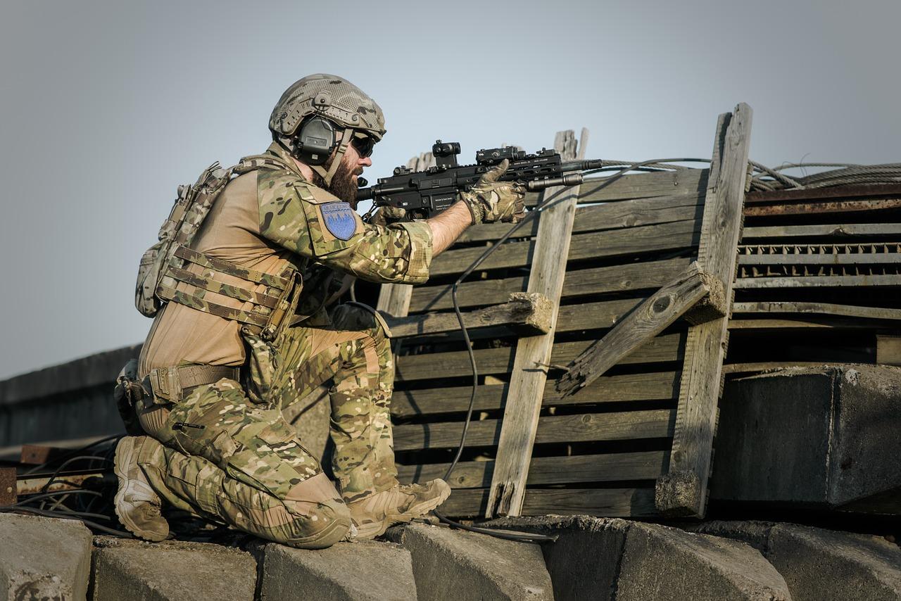 солдат, армия, оружие
