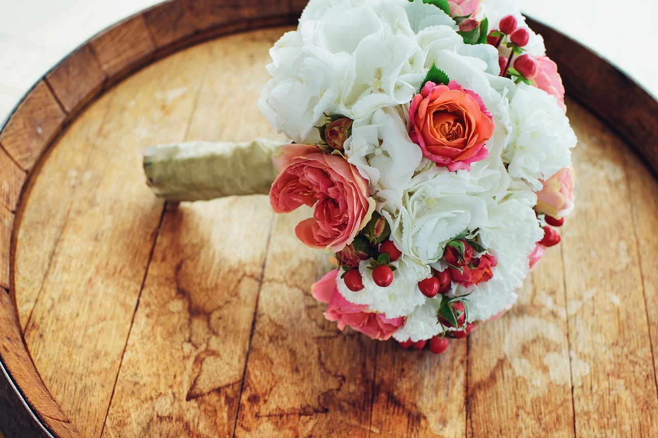 букет, розы, свадьба, цветы
