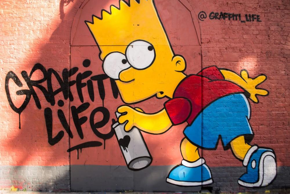 Барт Симпсон, правонарушение, стритарт