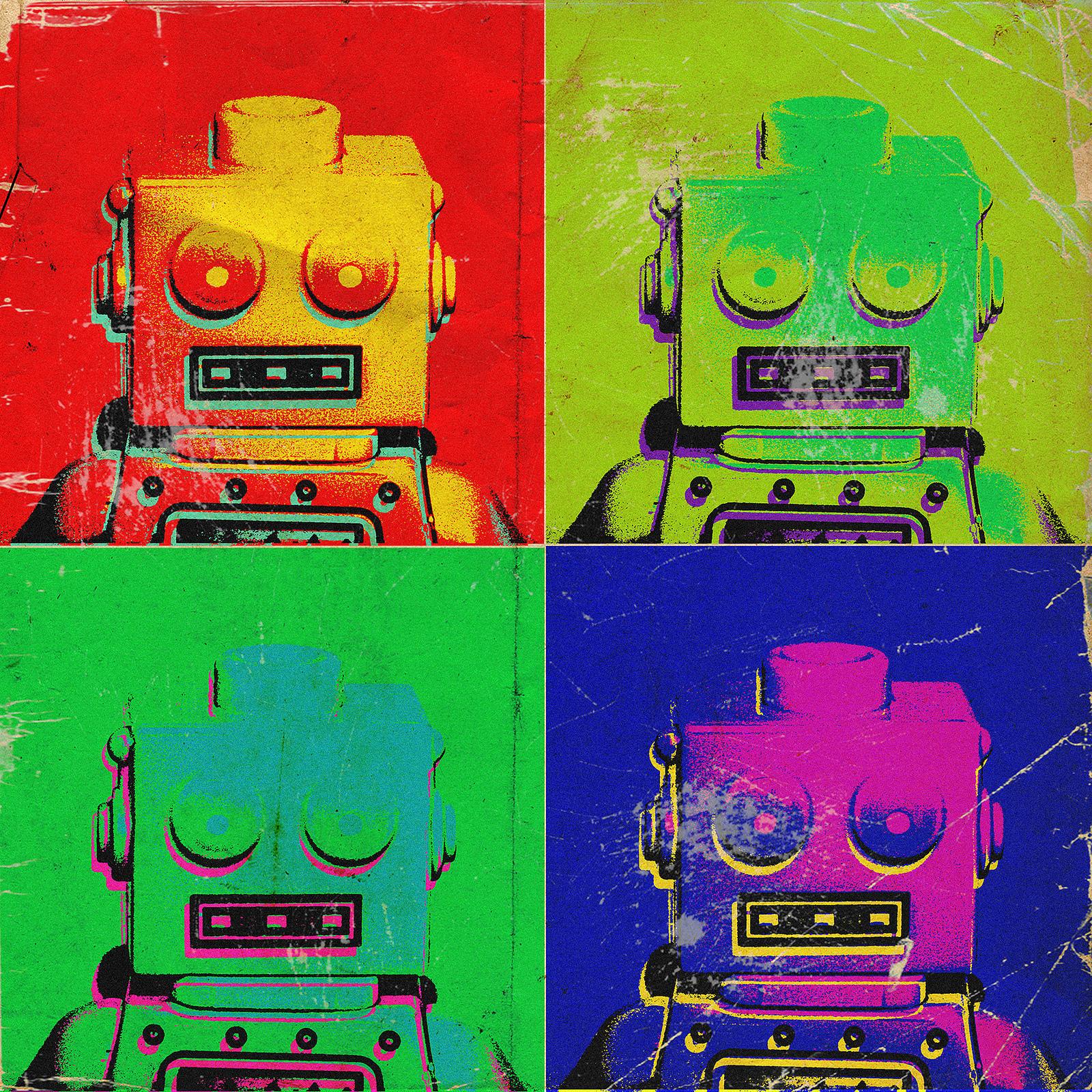 Робот, поп-арт
