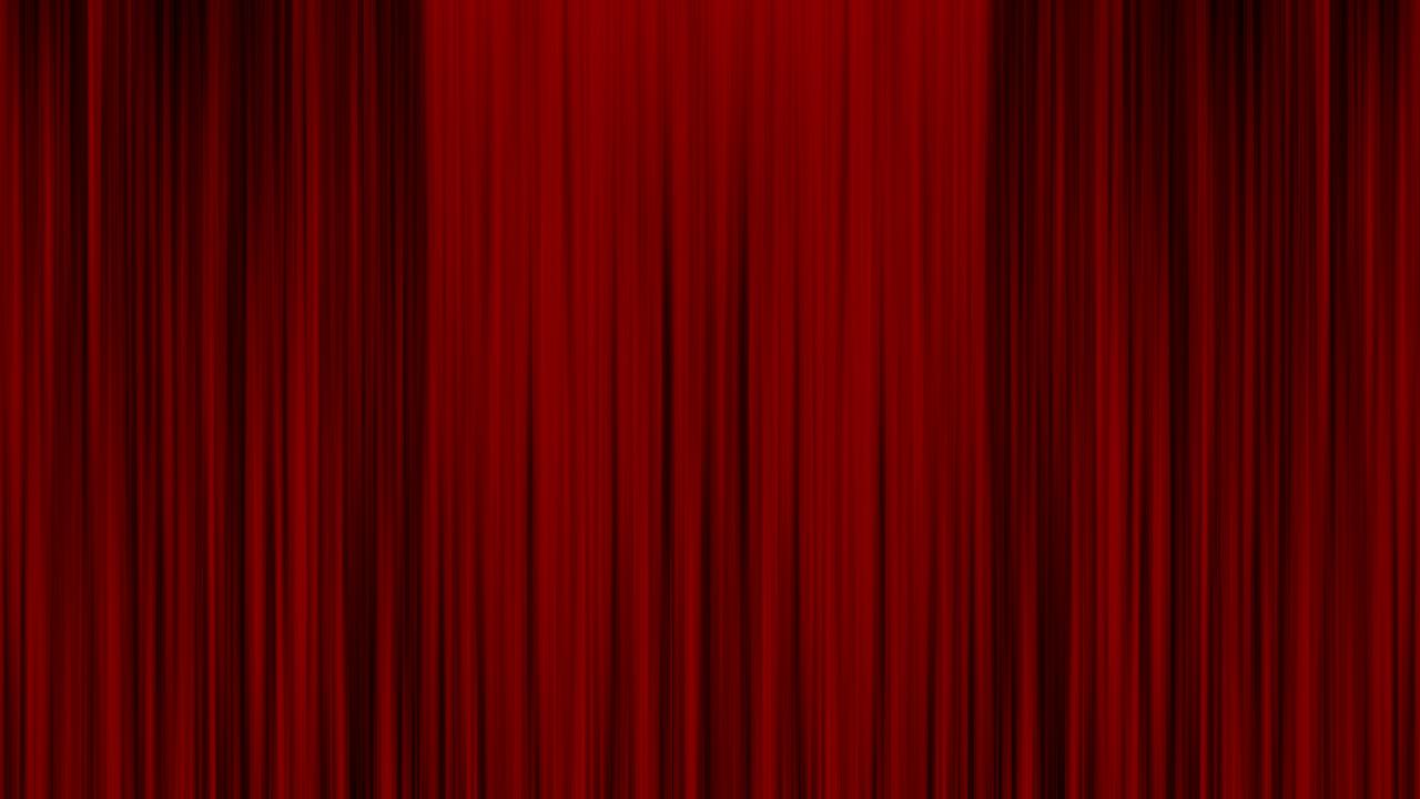 занавес, красный, театр