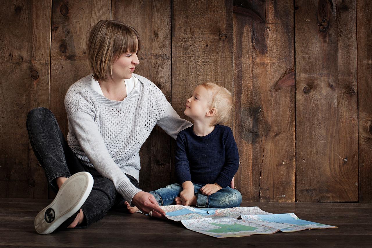 мама, мальчик, обучение