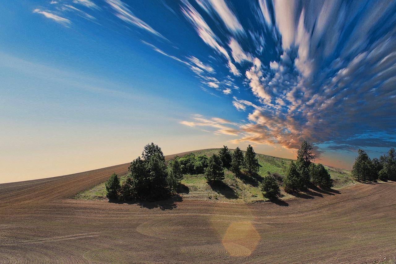 пейзаж, небо, земля
