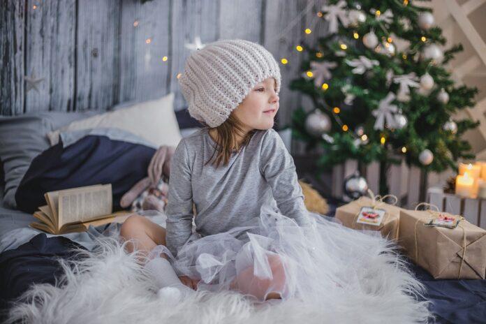 девочка, ребенок, рождество