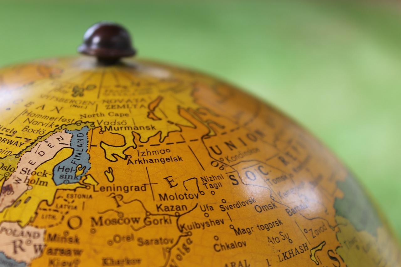 советский, глобус, карта