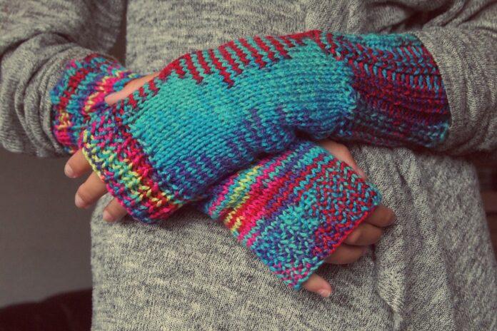 руки, кожа, шерсть, холод