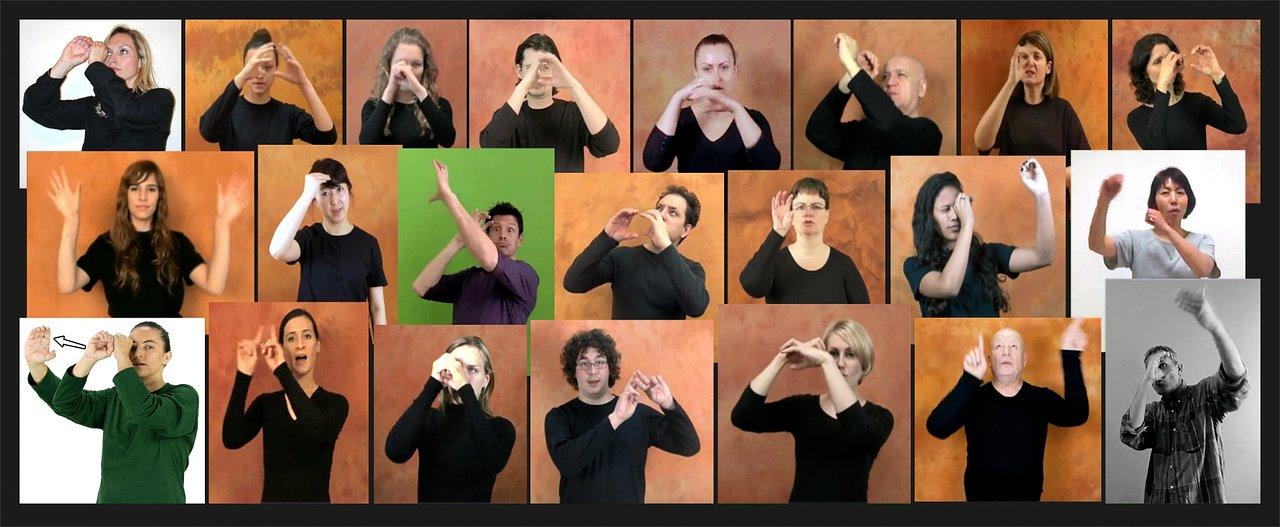 «Астрономия», как она представлена на языке жестов в разных странах
