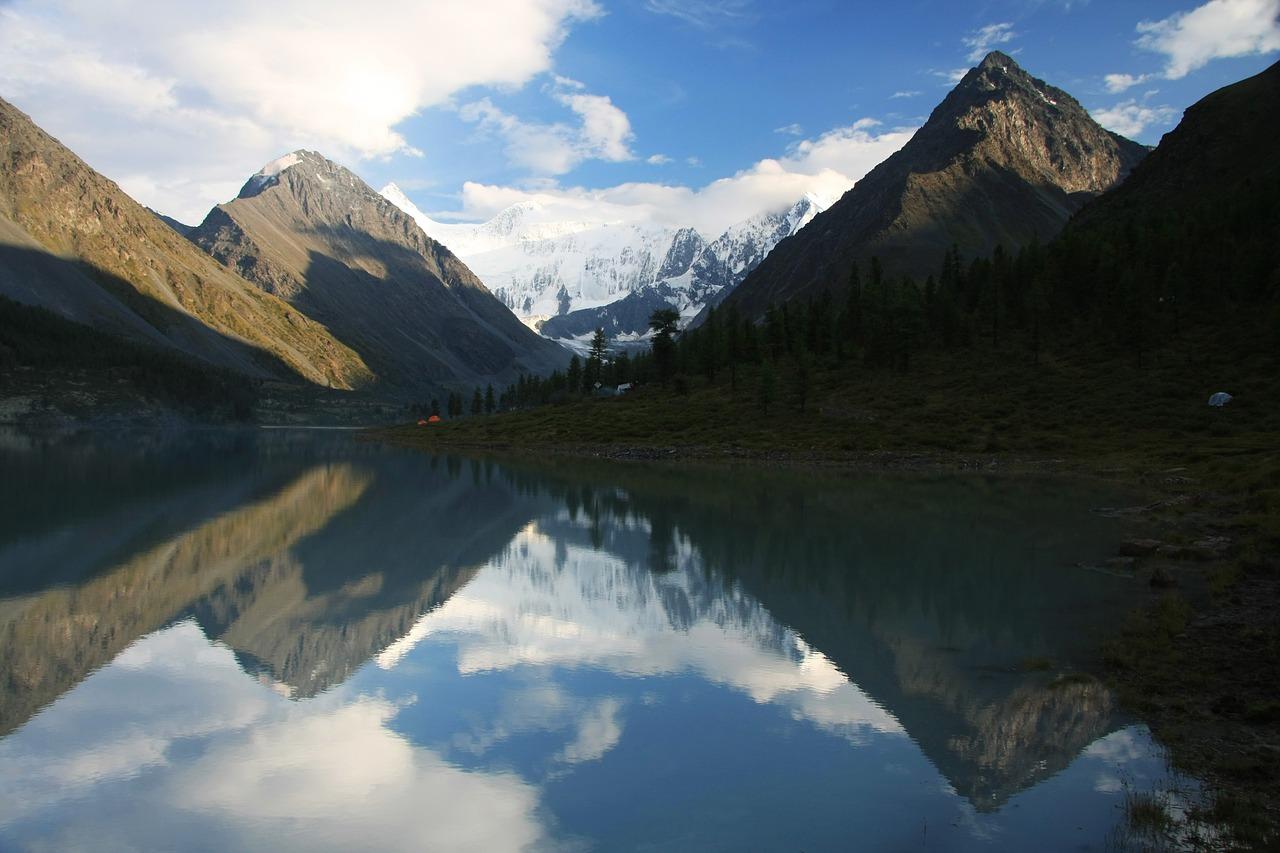 Алтай, горы, озеро, отражение