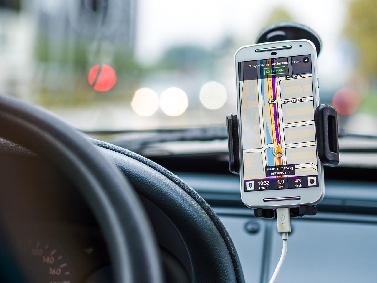 приложение, навигатор, смартфон