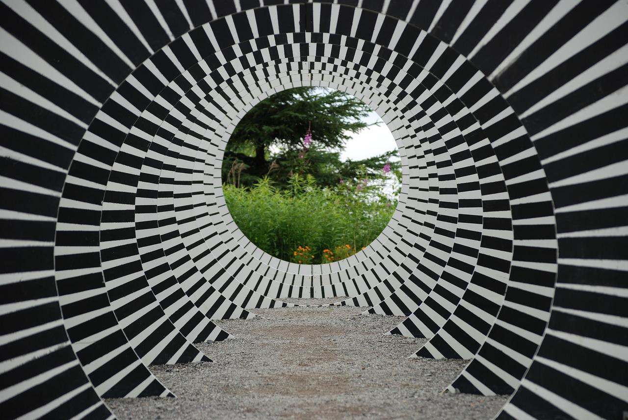 современное искусство, окно, иллюзия