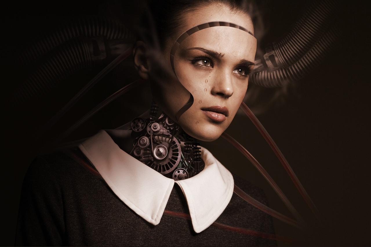 робот, девушка, технологии