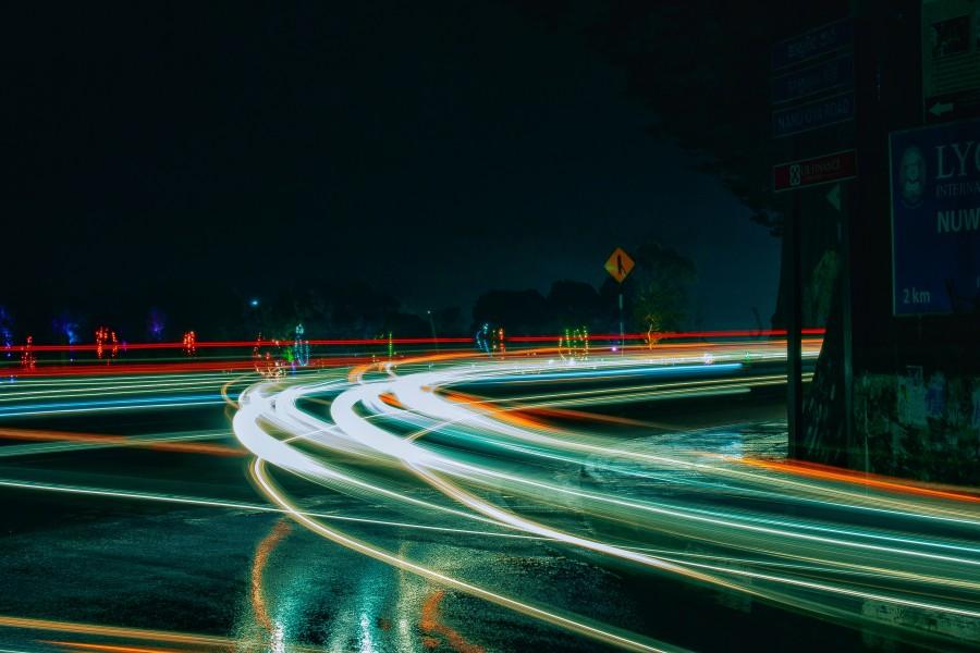 дорога, ночь, время