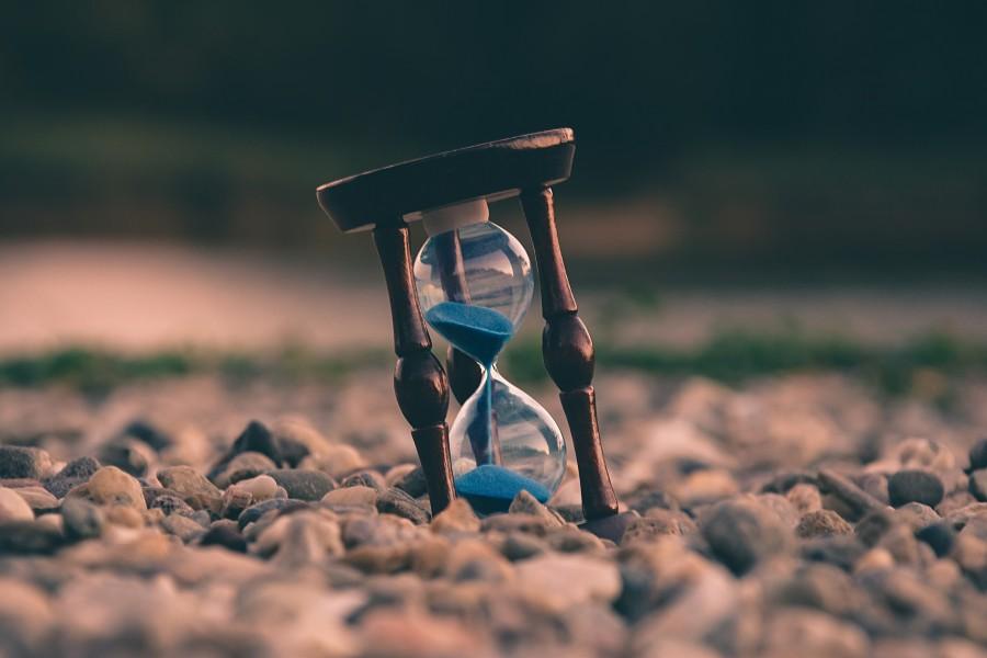 часы, время, песок