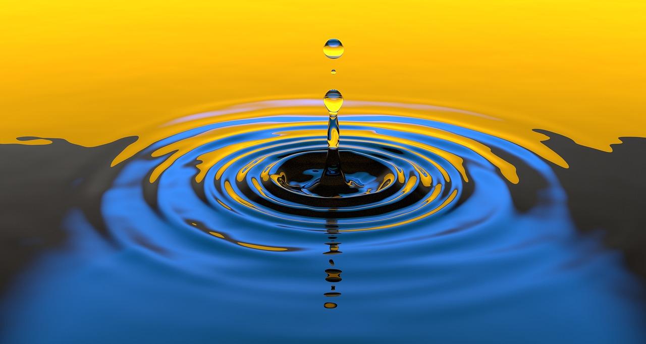 волна, вода, круги