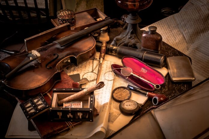 детектив, скрипка, винтаж