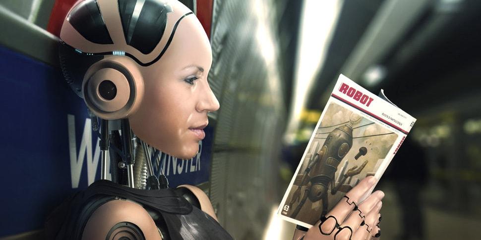Робот, ИИ, чтение